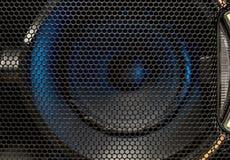 De textuur van het luidsprekersnet in donkere kleuren royalty-vrije stock fotografie