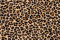 De textuur van het luipaardpatroon naadloos herhalen Royalty-vrije Stock Afbeeldingen