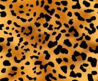 De textuur van het luipaardpatroon naadloos herhalen Stock Fotografie