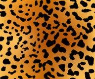 De textuur van het luipaardpatroon naadloos herhalen Stock Afbeelding