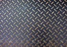 De textuur van het metaal De oppervlaktefoto van de ijzervloer Metaalhulp voor het lopen van weg op bouwgebied Royalty-vrije Stock Foto's