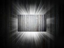 De textuur van het metaal van adreskaartje 3d presentatie Stock Fotografie