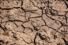 De textuur van het moddervuil Droog gebarsten aarde royalty-vrije stock afbeelding