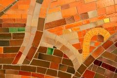 De textuur van het mozaïek Stock Foto