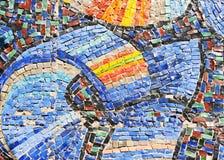 De textuur van het mozaïek op muur Stock Afbeeldingen