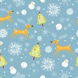 De textuur van het nieuwjaar met herten Stock Foto