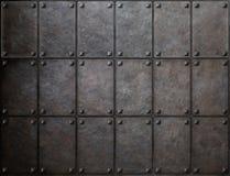 De textuur van het pantsermetaal met klinknagelsachtergrond stock foto