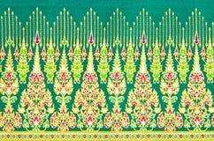 De textuur van het patroon van algemene traditionele Thaise stijl Royalty-vrije Stock Foto