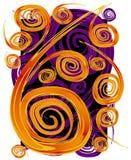 De Textuur van het Patroon van de Spiralen van wervelingen royalty-vrije illustratie