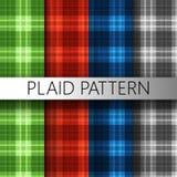 De textuur van het plaidpatroon Stock Afbeeldingen