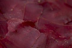 De Textuur van het Prosciuttovlees Royalty-vrije Stock Foto