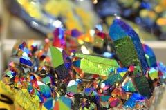 de textuur van het regenboogkristal Royalty-vrije Stock Foto