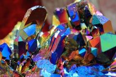 de textuur van het regenboogkristal Stock Foto's