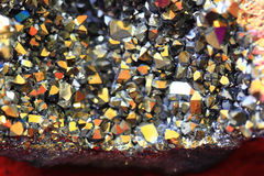 de textuur van het regenboogkristal Stock Foto