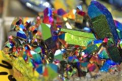 de textuur van het regenboogkristal Royalty-vrije Stock Foto's