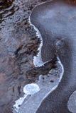 De textuur van het rivierijs royalty-vrije stock foto's