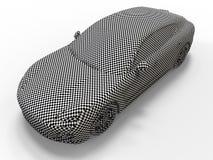 De textuur van het sportwagenschaakbord stock illustratie