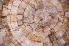 De textuur van het steenblok in bruine tinten stock afbeeldingen