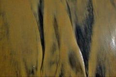 De textuur van het strandzand Stock Foto