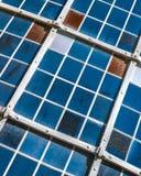 De textuur van het vensterglas Stock Foto's