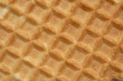 De textuur van het wafeltje Royalty-vrije Stock Afbeeldingen