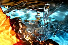 De textuur van het Water van kleuren Royalty-vrije Stock Afbeelding
