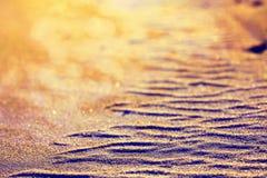 De textuur van het woestijnzand Stock Foto