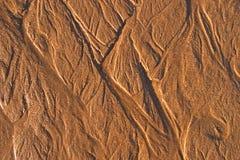 De textuur van het zand Royalty-vrije Stock Foto's