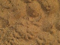 De textuur van het zand Stock Afbeeldingen