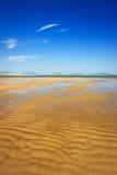 De textuur van het zand Stock Foto