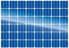De textuur van het zonnepaneel Stock Afbeeldingen