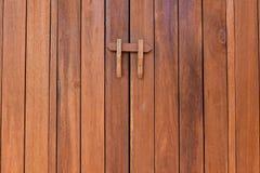 De textuur van hout en slot Royalty-vrije Stock Afbeeldingen
