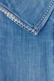 De textuur van jeans met naad Stock Afbeelding