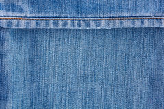 De textuur van jeans met naad Stock Fotografie