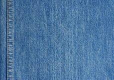 De textuur van jeans met steek Royalty-vrije Stock Foto