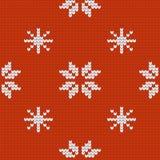 De textuur van Jersey van het Kerstmisontwerp met sneeuwvlokken Royalty-vrije Stock Foto's