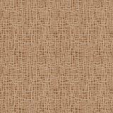 De textuur van de jute Bruine stof Canvas naadloos patroon als achtergrond De zakachtergrond van het doeklinnen stock illustratie