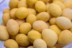 De textuur van de kaasballen stock afbeeldingen