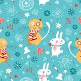 De textuur van katten en konijnen Stock Fotografie