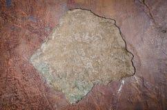 De textuur van kenmerk rotte Venetiaans pleister royalty-vrije stock foto