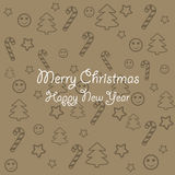 De Textuur van Kerstmis Royalty-vrije Stock Foto's