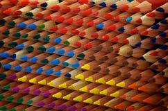 De Textuur van kleuringspotloden Royalty-vrije Stock Afbeelding