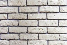 De textuur van lichtgele bakstenen voor decoratie van de voorgevel van het gebouw of het binnenland stock afbeeldingen