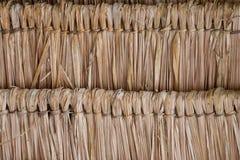 De textuur van met stro bedekt dak Royalty-vrije Stock Fotografie