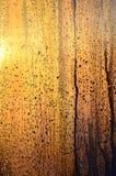 De textuur van misted glas met heel wat dalingen en de druppels van bedriegen stock fotografie