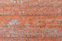 De textuur van de muren van de bouw van poreuze baksteen versterkte versterking royalty-vrije stock foto's