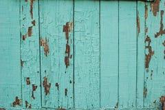 De textuur van oud hout met verf weg schil Stock Fotografie