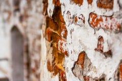 """De textuur van de oude historische architectuur †van de bakstenen traditionele steen de """"muur van het gebouw in Tobolsk het Kre royalty-vrije stock foto"""