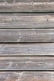De textuur van oude houten voering scheept muur in Stock Fotografie