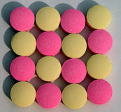 De textuur van pillen Royalty-vrije Stock Afbeeldingen
